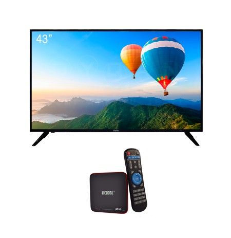 TV HAIER 43'' LE 43 K6000TF + Android TV Box M8S Pro W 8 GB