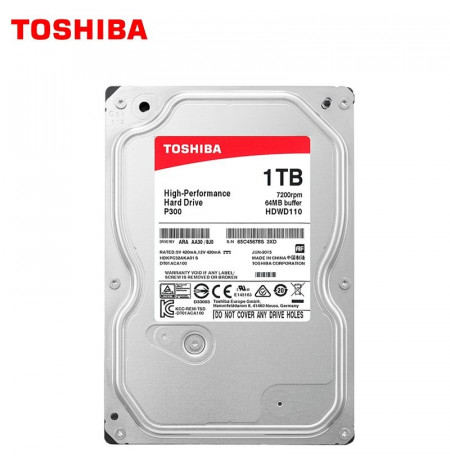 Toshiba HDD 1TB, SATA 6Gb/s, 7200rpm, 64MB