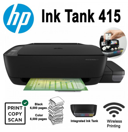 Printer HP Ink Tank Wireless  415 AIO