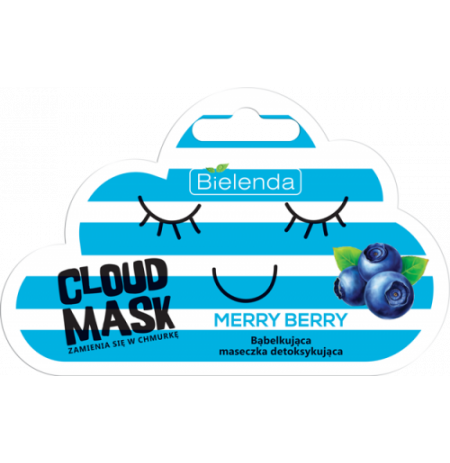 Bielenda CLOUD MASK detoxifying bubble Merry Berry 6g